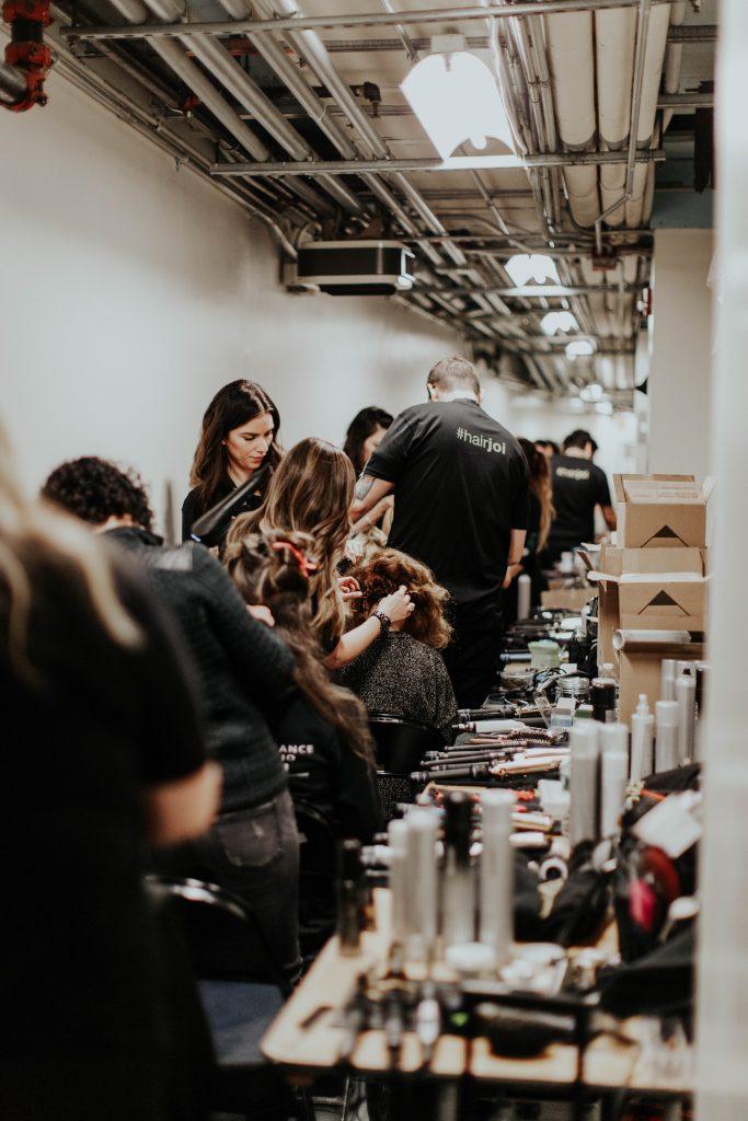Hair and makeup backstage NYFW 2017 image