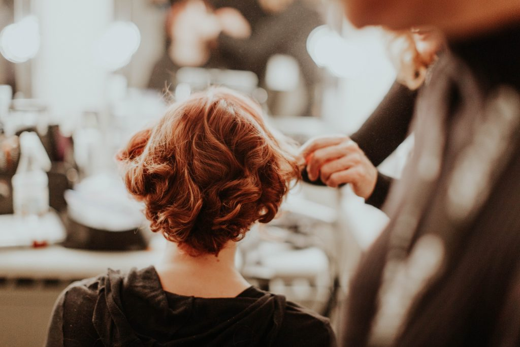 backstage hair styling NYFW 2017 image